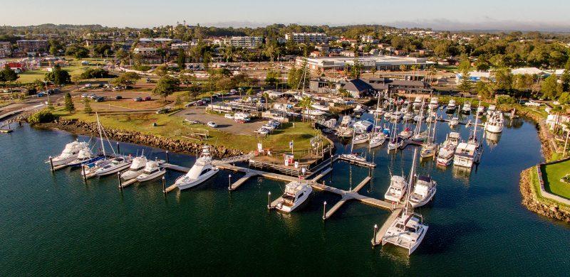 Port Macquarie Marina offers berths up to 25m