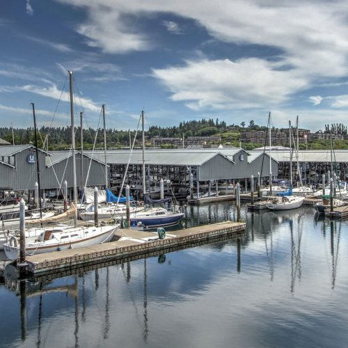 The marina has slips that accommodate vessels up to 50 feet.