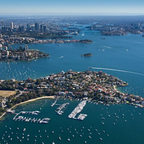 The two marinas are adjacent to one another, just outside of Sydney.
