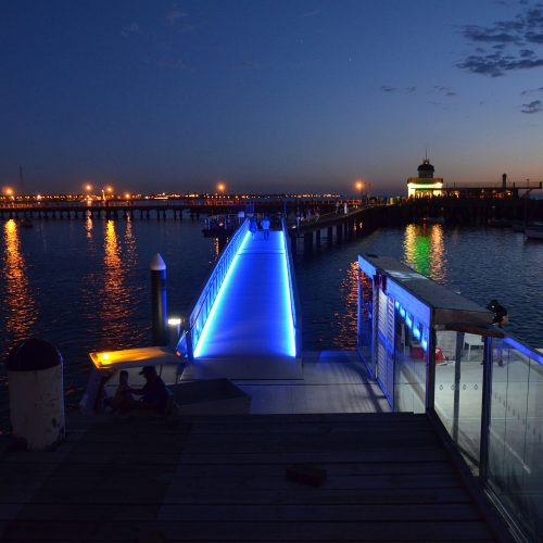 Custom lighted gangway.