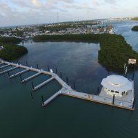 Floating building at Marathon Marina