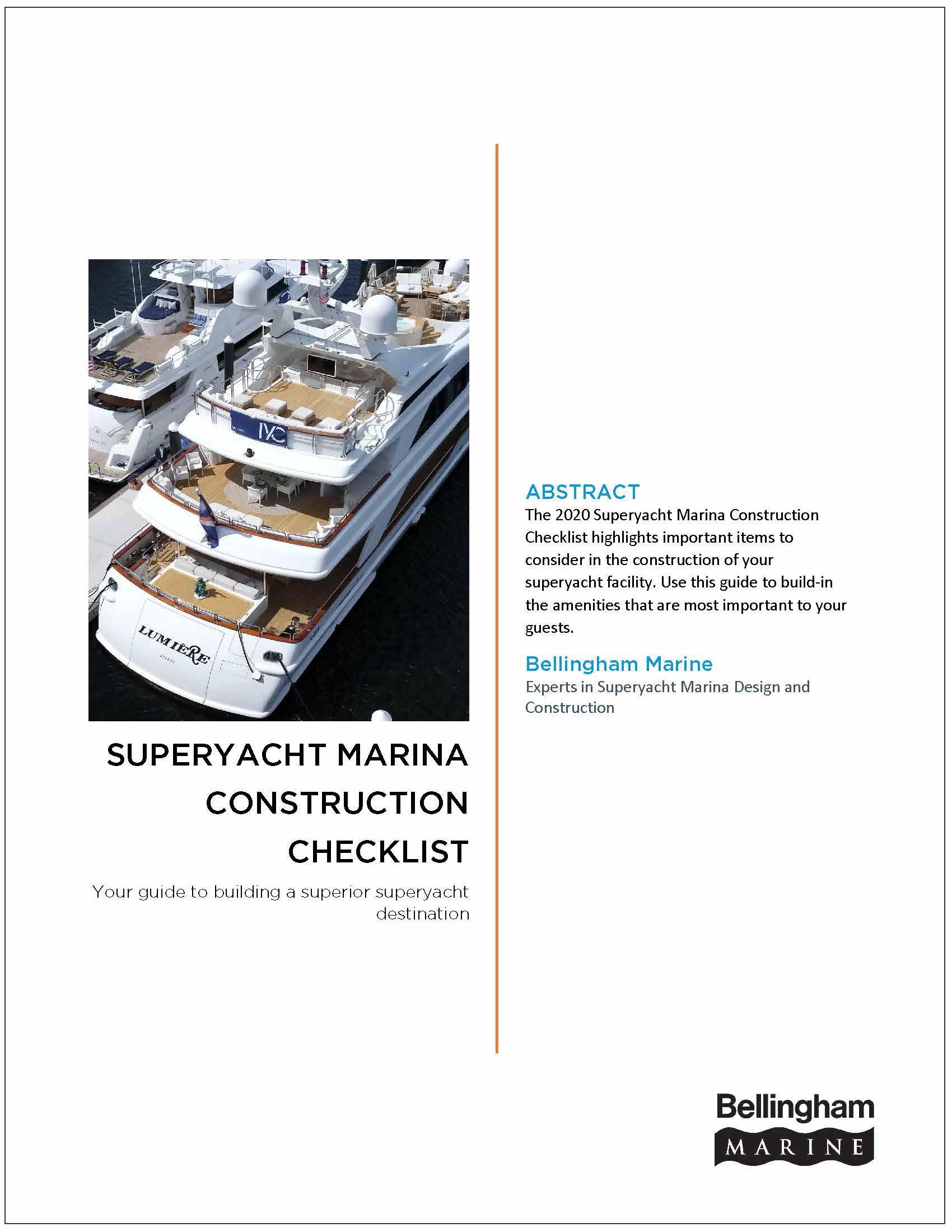Superyacht Marina Construction Cover