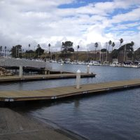 Unideck timber dock boat ramps with SYP decking