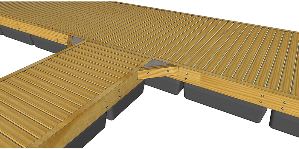 Typical Unideck Timber Dock