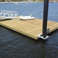 Timber dock platform with SYP decking