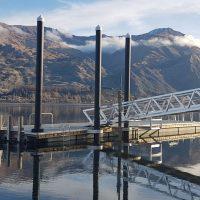 Landing platform in New Zealand