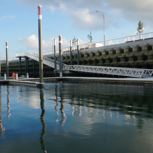 The marina is the largest privately owned marina in the country.