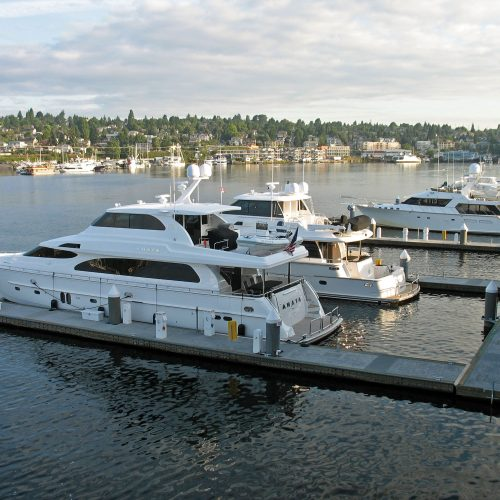 Wards Cove has 11 slips for vessels up to 100 ft.