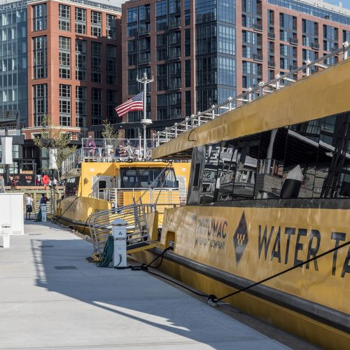 Loading area for water taxis on the Potomac.