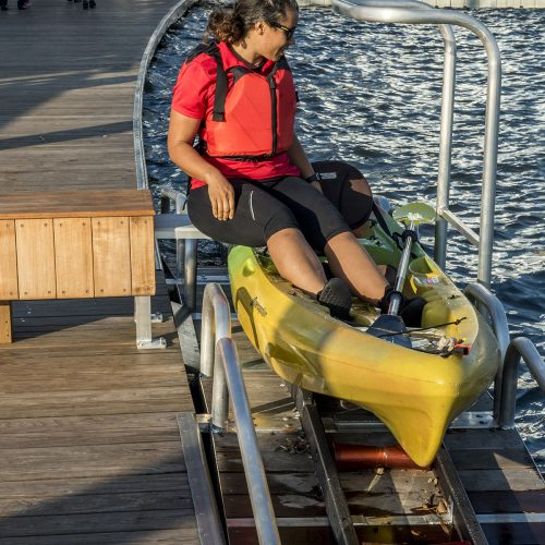 Assisted kayak launch docks are an ideal way to get everyone involved in the sport.