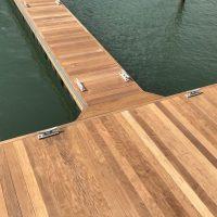 IPE decked timber docks at Wrightsville Beach Marina