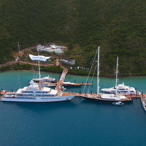 Yacht Club Costa Smeralda is located in a deep water basin in the British Virgin Islands.