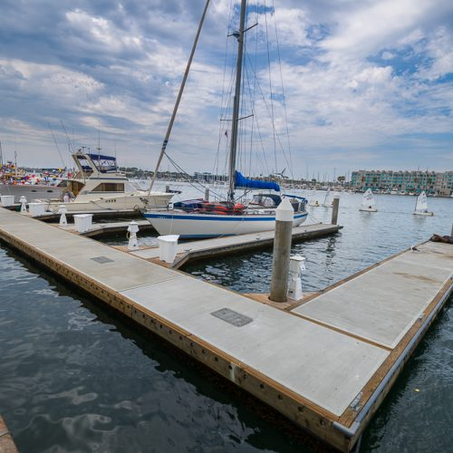 The new layout of the marina provides better integration with non-motorized watercraft storage and the new kayak launch dock.
